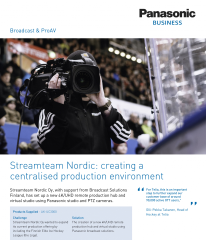 Streamteam Nordic: creating a centralised production environment
